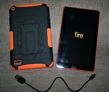 Amazon Kindle Fire 5th Generation Tablet 8GB Orange 7 w/matching case & charger