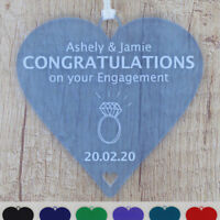 Engagement Gift Personalised Congratulations You're Engaged Heart Gifts Present