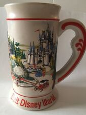 Walt Disney World Vintage Beer Stein Mug Cup Disney Main Raised Scene Ceramarte