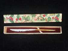 Antique 14k Gold Plated Dip Ink Pen 'Velvet Point' w/ MOP Mother-of-Pearl Handle