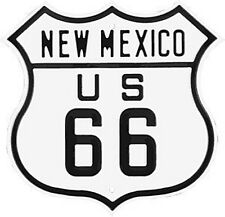 Route 66 New Mexico embossed metal fridge magnet (ar)