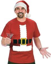 Santa Claus Funny Christmas Adult T-Shirt and Hat