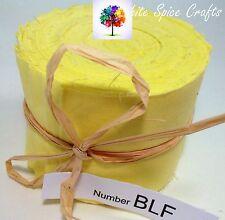 "20 pcs (2.5""x 45"")  Lemon fabric Jelly Roll binding /edging BLF FREE POST AU"