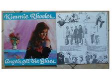 KIMMIE RHODES * ANGELS GET THE BLUES * VINYL LP + INNER HLD 010 PLAYS GREAT