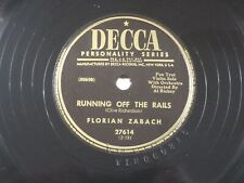 US 78 rpm Florian ZaBach: Running off the rails / Tea for two, Decca 27614