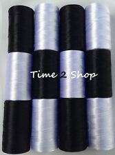 12 Strong Black Large Art. Silk Pure of Rayon Machine Embroidery Thread Spools