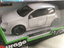 BBURAGO 1:32 DieCast Model Volkswagen Golf GTI White