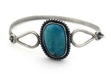 w/ Blue Turquoise Bangle Bracelet Vintage Mexico 925 Sterling Silver