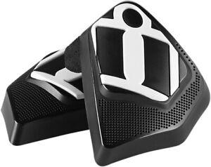 Icon Motorsports Clover Knee Puck- Street Motorcycle Apparel Black Nylon