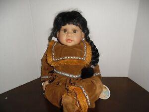 "Heritage Mint Native American 20"" Vinyl Doll"