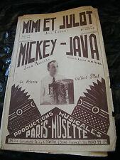 Spartito Mimi e Jason Coste Topolino Java Gilbert Piatto Music Sheet