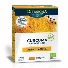 Dietaroma - Curcuma et Poivre noir bio - Confort articulaire - 60 comprimés