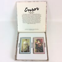 James Ensor Painter Artist Playing Swap Cards Dual Deck Lady With Fan Parasol