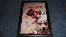"""AMERICAN HORROR STORY : FREAK SHOW PP SIGNED FRAMED A4 12""""X8"""" PHOTO POSTER"""