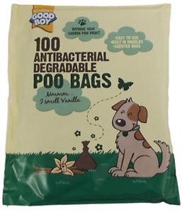 Good Boy Antibacterial Degradable Poo Bags With VANILLA SCENT 100 per pack