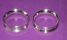 VICTORIAN 1894 PAIR OF SOLID STERLING SILVER NAPKIN RINGS ANTIQUE