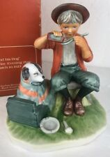 Norman Rockwell Gorham A Boy And His Dog Porcelain Figurine Rw-9 Saturday Post