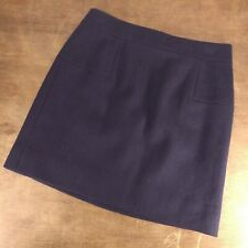 "Women's JCREW Navy Blue Wool Blend Mini Skirt Fall 2012 Sz 2 27"" Waist"
