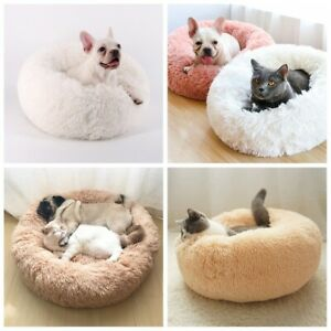 Marshmallow Bed For Calming Dogs Cats Soft Comfy Fluffy Pet Plush Pillow House