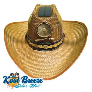 Mens Kool Breeze Solar Cowboy Hat, Straw hat, Cowboy hat, Cooling Hat, Solar NEW