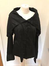 Gorgeous Women's Cora Kemperman Black Hooded Shirt Top Size XL Worn Once