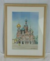 Sylvia Mountford Watercolour Russian Dome Architecture Orthodox Church Painting