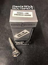 DENIS WICK 4N French Horn Mouthpiece-Neuf, non utilisé Plaqué Argent -