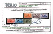 FRANCOBOLLI 1930 REGNO VIRGILIO SAGGIO MNH CERTIFICATO CILIO B/8624