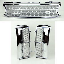 Range Rover 06-09 Mesh Chrome Sil Front Bumper Hood Grill & Side Fender Vents