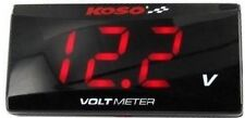 Koso Ultra Slim LCD Volt Meter RED - 3041
