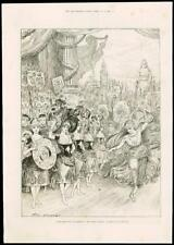 1887 - LONDON THEATRE DRURY LANE PANTOMIME FORTY THIEVES DANCERS  (89)