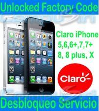 CLARO iPhone 11 XS, XR, 6, 7, 7+ 8 8+ X FACTORY UNLOCK SERVICE Desbloquea iPhone