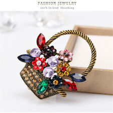 Delicate Women's Retro Jewelry Pin Party Collar Decor Corsage Crystal Brooch Ho3