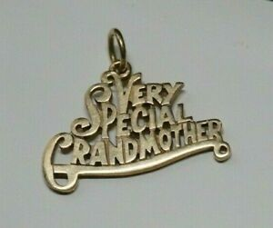 *Retired* James Avery 14k Gold VERY SPECIAL GRANDMOTHER Charm