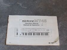 1980's Owner's Operating Manual for Keyboard Casio MT-45 original