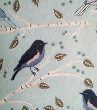 Flannel Fabric BLUE BIRDS ON BRANCHES Pattern 3 yards X 42 inches 100% Cotton