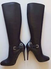 RALPH LAUREN COLLECTION VIVERA BLACK HIGH HEELS KNEE HIGH BOOTS SIZE 8.5B ITALY
