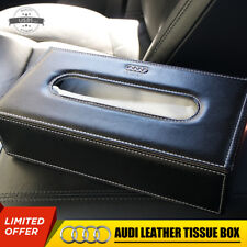 For Audi Leather Auto Car Tissue Box Cover Napkin Paper Holder Towel Dispenser