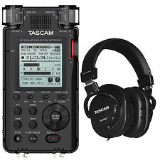 Tascam DR-100MKIII Linear PCM Recorder + Tascam TH-MX2 Studio Headphones