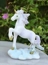 Miniature Dollhouse FAIRY GARDEN ~ Mini Prancing White & Purple Unicorn ~ NEW