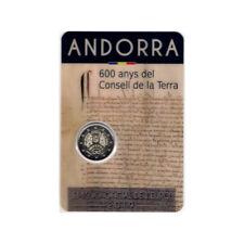 Andorra. 2019. 2 Euro. 600 Anys del Consejo de la Tierra