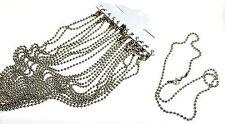 12 un. De Cadena En Blanco Collar 2,4 Mm De Ancho Color Plata, De 18 Pulgadas