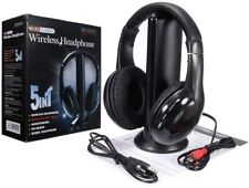 5 in 1 Wireless Headphones Over Ear Headsets with Monitoring Fm Radio for Pc Tv