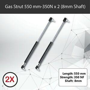 Gas Strut 550mm-350N x2 (8mm Shaft) Caravans, Trailers, Canopy, Toolboxes struts