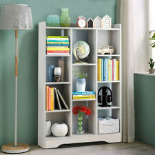 White 11 Cube Bookcase Corner Bookshelf Book Shelves Storage Shelving Display UK