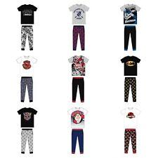 Mens Character Pyjamas Bottoms Novelty Lounge Wear Pants Pyjama Set Sizes S-XL