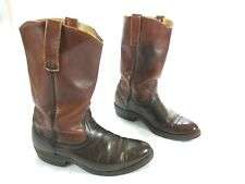 RED WING Men's Size 7 Boots Brown Leather Pull-ons Western Cowboy