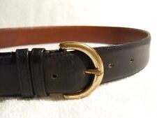 Coach navy blue leather belt 28 (mens) USA