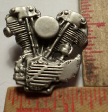 Vintage Harley Knucklehead motor pin HD motorcycle collectible old memorabilia