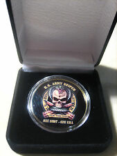"US ARMY SNIPER ""ONE SHOT*ONE KILL"" Challenge Coin w/ Presentation Box"